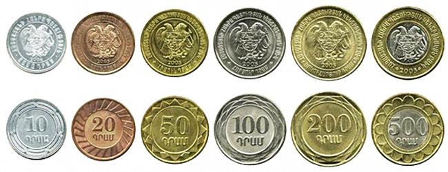 Армянские драмы монеты