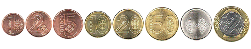 Белорусские рубли монеты