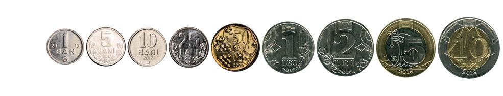 Молдавские леи монеты