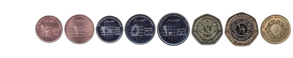 Иорданские динары монеты