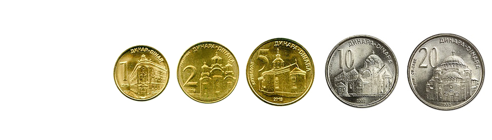 Сербские динары монеты