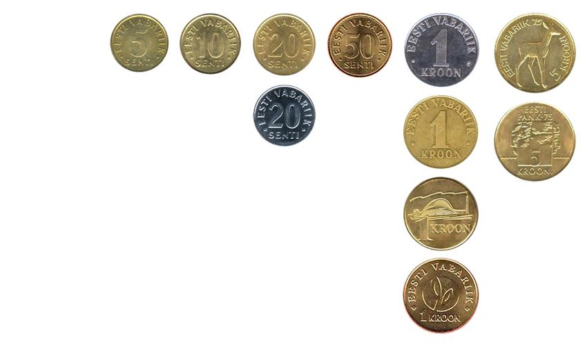 Эстонские кроны монеты