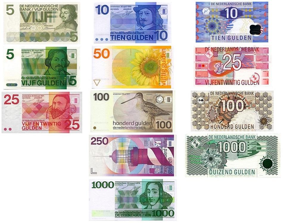 Гульдены Нидерландов банкноты