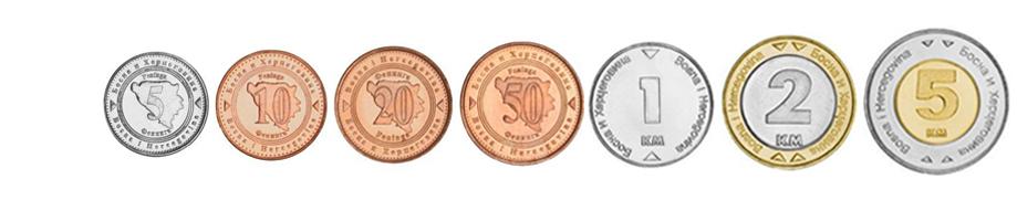 Конвертируемые марки Боснии и Герцеговины монеты