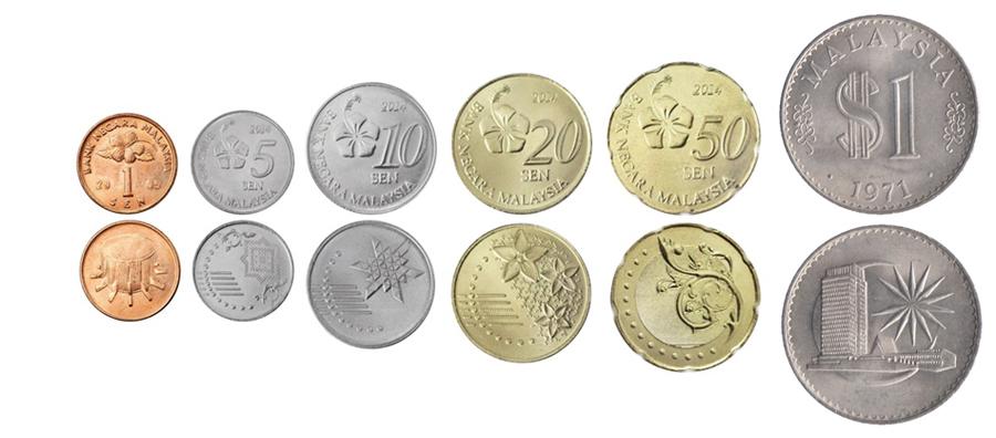 Малайзийские ринггиты монеты