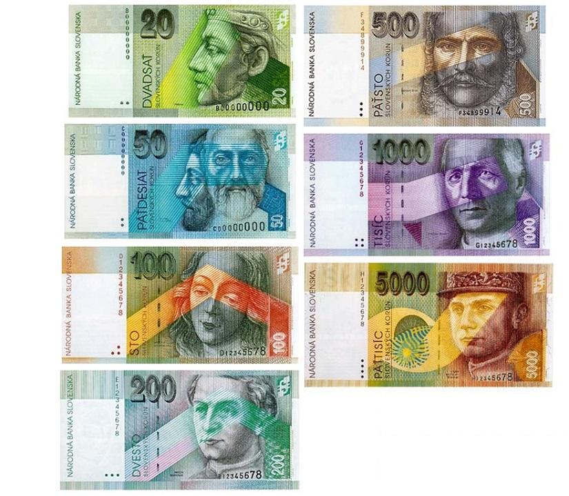 Словацкие кроны банкноты